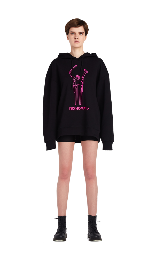 Oversized hoodie with TECHNOMOTHER print